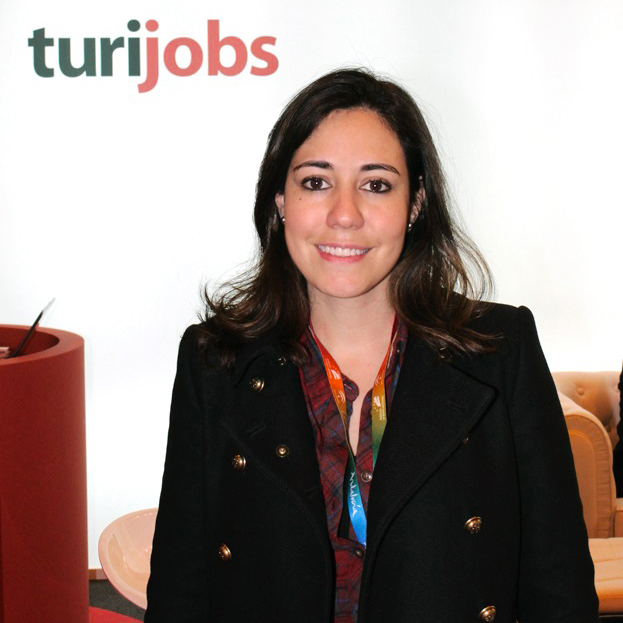 Mary Salas en el estand de Turijobs de FITUR